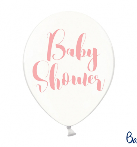 Party balonky - 30cm, Baby Shower, Crystal Clear (6 ks) - BL06-0008