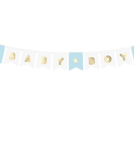 PartyDeco - Banner Baby Boy, mix (1 ks)