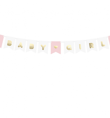 Party girlanda - Banner Baby Girl, mix (1 ks) - GR4013