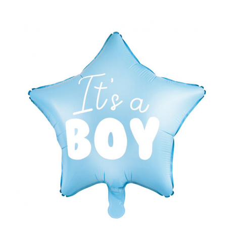Party balonek - folióvý - Balloon Star - It's a boy (1 ks) - BL06-0006