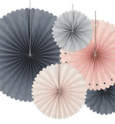PartyDeco - Decorative Rosettes, mix (5 ks) - DS021