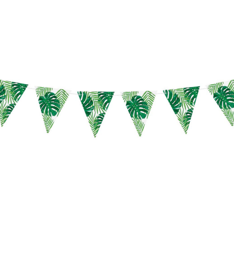 PartyDeco - Bunting Aloha - Leave (1 ks)