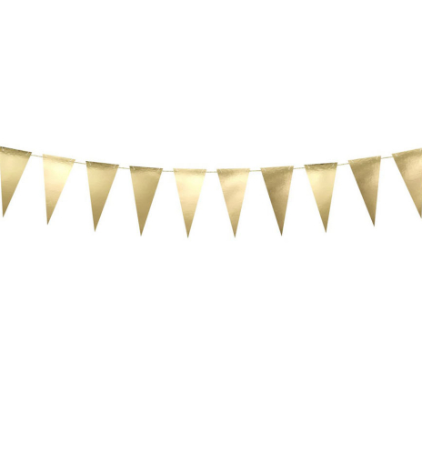PartyDeco - Bunting, gold