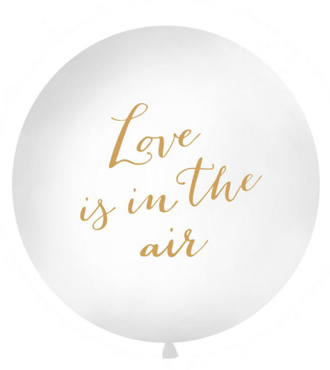 Party balonek - Giant Balloon 1 m, Love is in the air, white