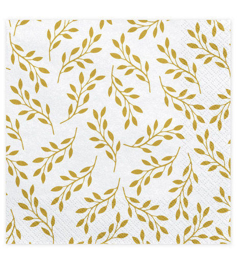 Ubrousky - Napkins Branches with leaves (20 ks) - UB101