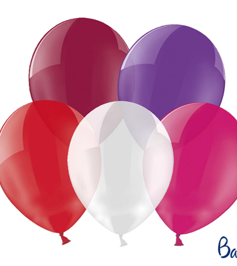 Party balonky - Strong Balloons Ø 30 cm, Crystal Mix (100 ks) - BL05-0001